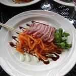 The Ahi Tuna was perfectly done