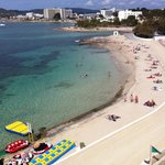 Very safe swimming beach with nice clean white sand.