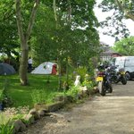 Camping in the grounds TT and MGP
