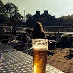 Pint in the beer garden before we sat down