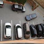 The car park below my room.