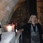 Our host, Katharina, in Wine Cellar