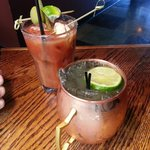 Bacon Bloody Mary and Moscow Mule