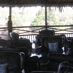 Hill top lounge area overlooking Ruaha river