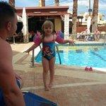 summer enjoying the pool