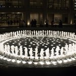 The fountain at Lincoln Center; taken a half hour into the course - thank you Mindy