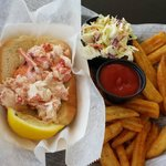 Lobster roll and fries (I had this for lunch)
