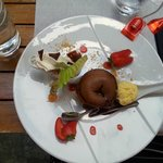 We ordered chocolate fondante,- and got a a piece of art! Delicious, creative - fantastic