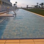Long, shallow, private pool