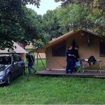 Furnished pitched tent