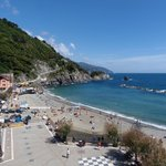 Old Monterosso beach view from my room.
