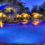 BIG4 Moruya Heads swimming pool by night
