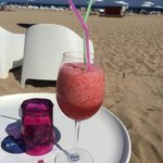 Beach bar; a fresh strawberry juice!