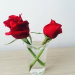 We were given red roses on the Friday night in the restaurant!
