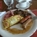 Breakfast buffet with omelette station