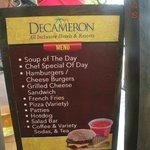 Beach Grill menu
