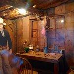 """John Wayne's """"cabin"""" set (aka the potato cellar)"""
