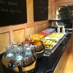 Breakfast - Fruits and Cheeses area