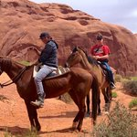 trail ride through monument valley
