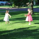 Flower girls on the grounds