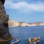 contrasting rock formations - kayaks & other sights of interest too