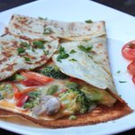 Vegetable and cheese crepe