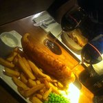 Red wine with Fish & Chips..! ;)