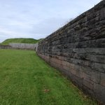 Outside walls of fort