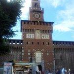 Entrance of the Castello Sforzesco