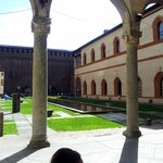Inside Castello Sforzesco