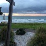 The porch of our beachfront villa