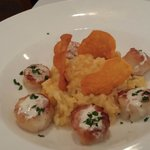 Maine seared scallops with butternut risotto