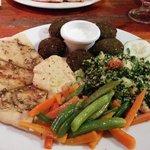 Falafel plate - excellent