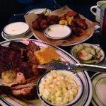 combo platter and wing plate