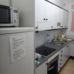 kitchen at 4 bed dorm