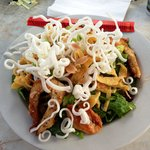 Asian Chicken Salad (grilled instead of fried) SO super yummy!!