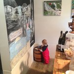 Our chalkboard attracts artists of all ages