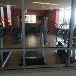 Enclosed gym located on roof