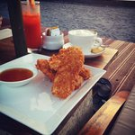Banana Fritter, Coffee & Healthy Juice