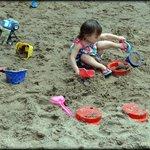 back sand pit