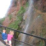 waterfall on the path near hotel