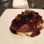 Hotel steak dinner