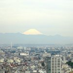 Panorama da janela do quarto: Monte Fuji