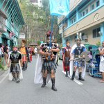watching Moriones Festival (Boac Hotel as background)