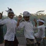 kids frolicking on streets of ubud