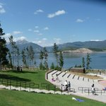 view of the lake and mts from the amphitheater