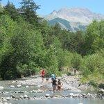 Rivière bordant le camping