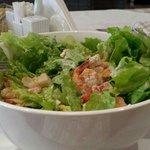 Caesar salad prawns