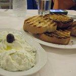 Tzatziki and tasty bread!