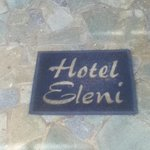 Welcome mat to Hotel Eleni